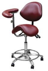 Galaxy Model 2035 Dental Assistant Stool,Contoured Ergo Saddle seat with 3 way adjustable height