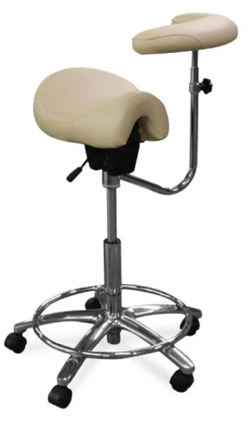 Galaxy Model 2045 Dental Assistant Stool,Contoured Ergo Saddle seat