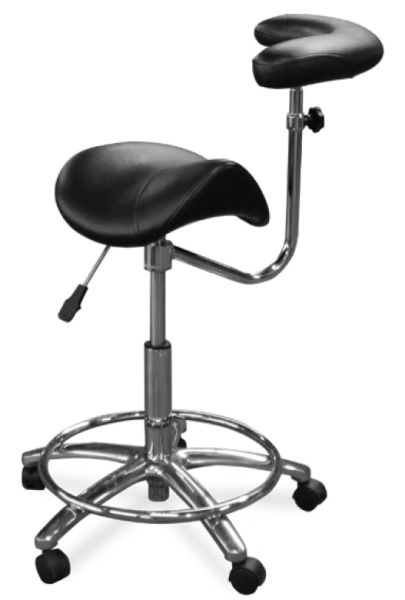 Galaxy Model 2055 Dental Assistant Stool,Contoured Ergo Saddle seat
