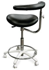 Galaxy Model 2065 Dental Assistant Stool, Contoured Seat. Seamless Upholstery