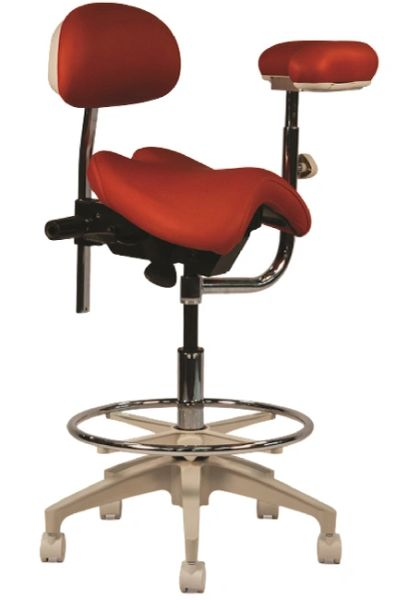 Crown Seating Denver C130AB Assistant Stool With Ratcheting Arm & Back Support