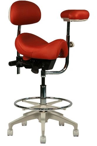 Crown Seating Durango C90SBAB Assistant Stool With Ratcheting Arm & Back Support