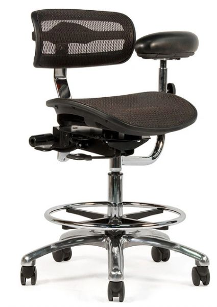 Crown Seating Virtù C120 Mesh Assistant Stool