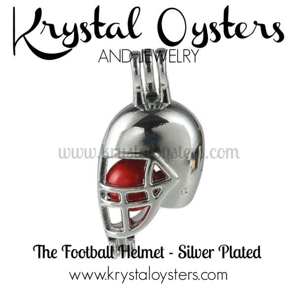 Football Helmet - Silver Plated