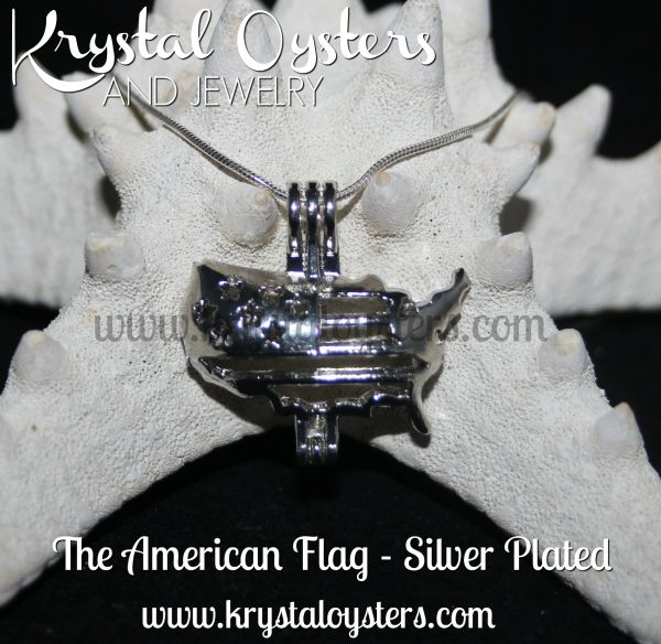 American Flag - Silver Plated