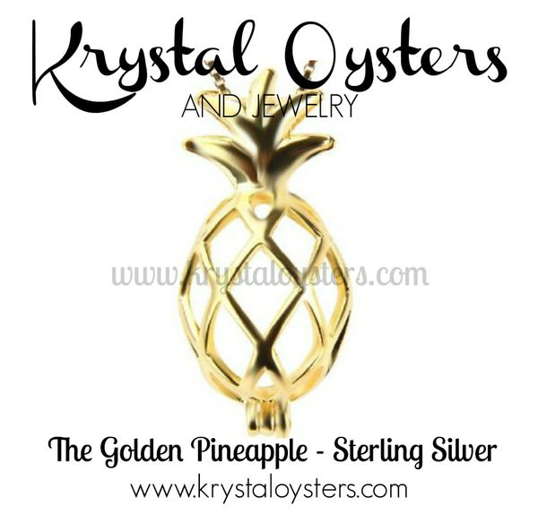 Golden Pineapple - Sterling Silver