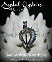Emerald Wish - Silver Plated