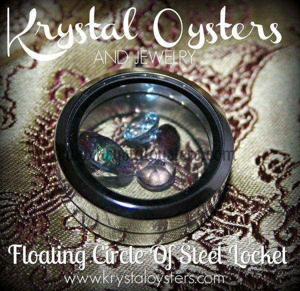 Floating Circle Of Steel Locket