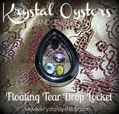 Floating Teardrop Locket