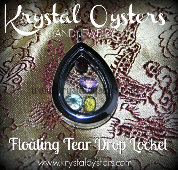 Floating Teardrop Locket