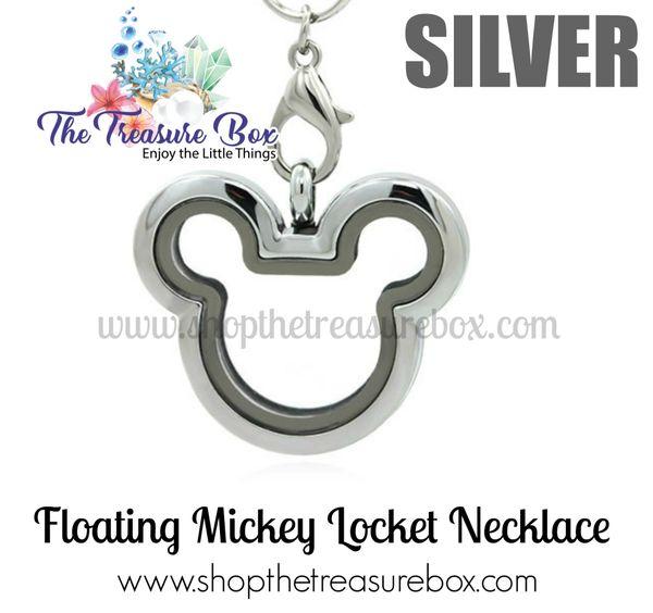 Mickey Floating Locket Necklace