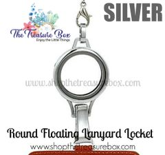 Round Floating Locket Lanyard