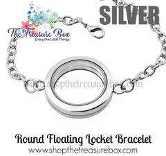 Round Floating Locket Bracelet