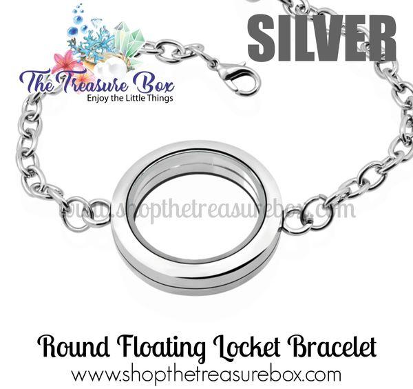 Round Floating Locket Bracelet