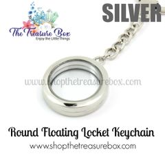 Round Floating Locket Keychain