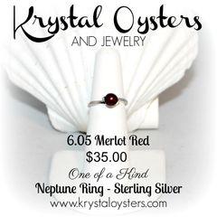 Neptune Ring - Merlot Red - Size 6