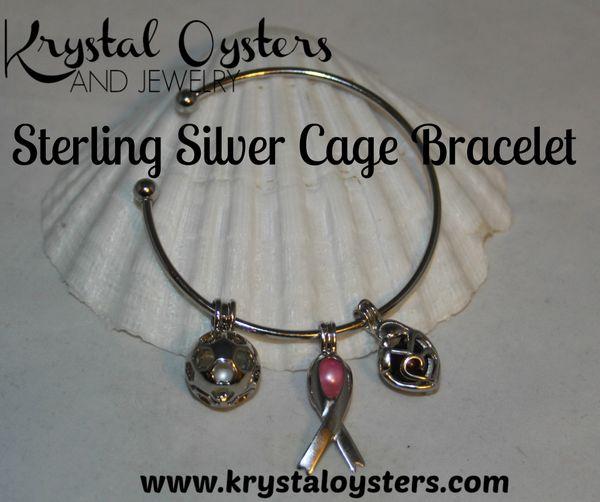 Cage Bracelet - Sterling Silver