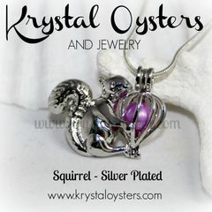 Squirrel Pendant - Silver Plated