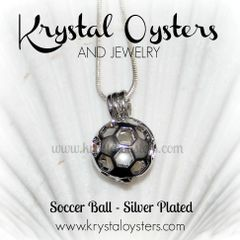 Soccer Ball Pendant - Silver Plated