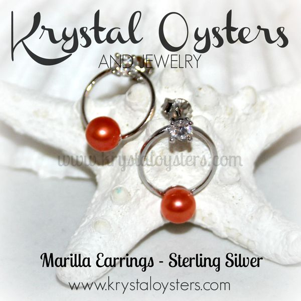 Marilla Earrings - Sterling Silver Setting