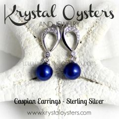 Caspian Earrings - Sterling Silver Setting