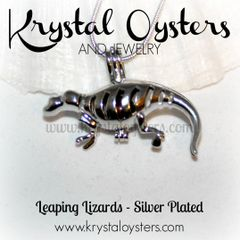 Leaping Lizards - Silver Plated