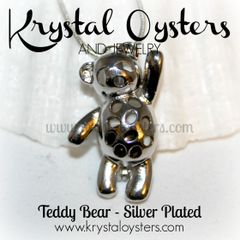 Teddy Bear Pendant - Silver Plated