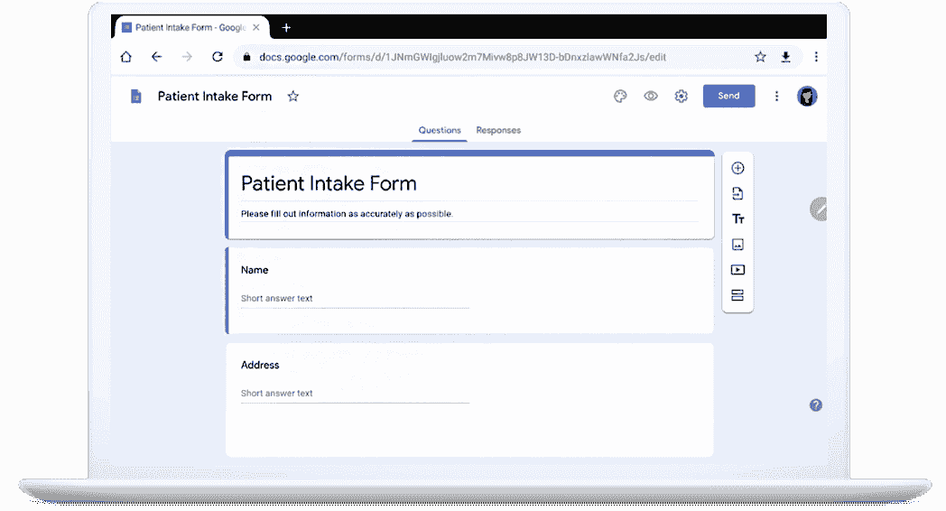 Custom web form example