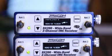 RX 200, Wireless Audio, Wireless Audio Receiver, Zaxcom, Stereo Camera Hop