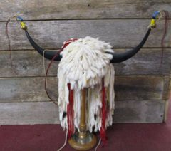Ermine Beaded Headdress Native American