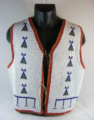 Vintage 1890's Fully Beaded Sioux Vest Amazing Condition