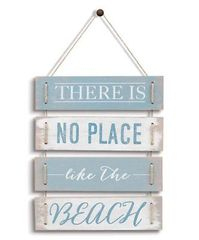 "Grasslands Road ""Theres No Place Like the Beach"" Plaque Wallhanging Sign"