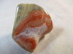 Polished TeePee Canyon Agate from South Dakota