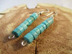 Turquoise and Sterling Silver Earrings #5530