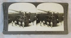 Vintage Keystone View Company Stereoview Card Defense Gun Fortress Monroe Va