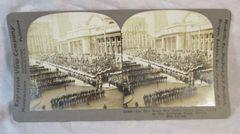 Vintage Keystone View Company Stereoview Card New York Army Parade