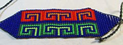 Handmade Native American Beaded Bracelet Pine Ridge South Dakota #5680