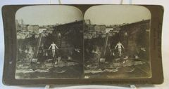 Vintage American Steroscopic Company Stereoview Card Calverley Crossing Niagra