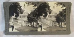 Vintage Keystone View Company Stereoview Card The Capital Washington DC