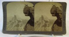 Vintage Underwood & Underwood Stereoview Card Glacier Point California 1903