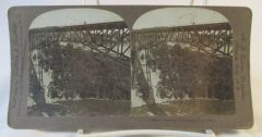Vintage Griffith & Griffith Stereoview Card Niagara Calverley Performing on wire