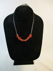 Vintage Southwestern Sterling and Branch Coral Necklace #N1