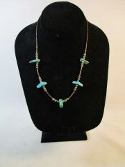 Vintage Southwestern Sterling Silver and Turquoise Necklace #N2