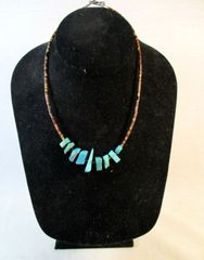Vintage Southwestern Native American Turquoise Necklace #N3