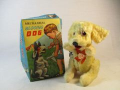 Victory Vintage Mechanical Begging Dog w/ Original Box Japan