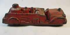 "VINTAGE MADE IN USA TOY 7 1/2"" RUBBER PLASTIC AUBURN FD RED FIRE TRUCK 502 #68"