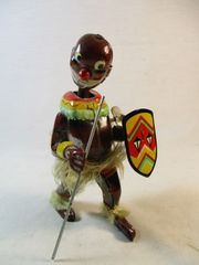 Vintage Pango Pango Black African Dancer Tin Windup Toy Japan Black Ameriana
