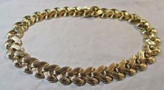 Rare 1950's Trifari Gold Necklace Great Condition #CJ9000