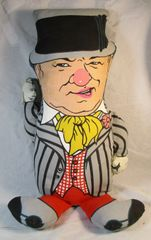 WC Fields W.C. Knickerbocker Pull String Doll Stuffed Toy Juggler Vauldville