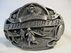 Arroyo Grande Belt Buckle American Fire Fighter 1993 Limited 630/5000 #6650